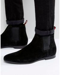 BOSS Black By Hugo Paris Suede Chelsea Boots for men