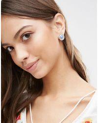 Ashiana - Metallic Shiana Vintage Effect Stone Stud Earrings - Lyst