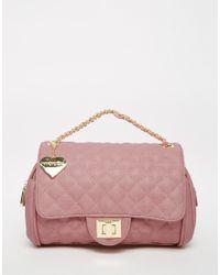 Marc B. - Quilted Shoulder Bag In Sherbert Pink - Lyst