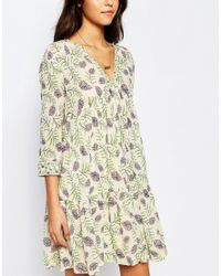 Ba&sh - Multicolor Naouel Dress In Folk Print - Lyst
