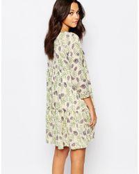 Ba&sh - Multicolor Naouel Dress In Folk Print - Lyst
