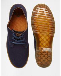 Dr. Martens - Blue Delray Canvas Shoes for Men - Lyst