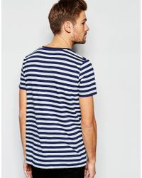 Esprit - Blue Stripe T-shirt for Men - Lyst