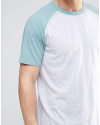 New Look - Gray Ringer Raglan T-shirt In Green for Men - Lyst