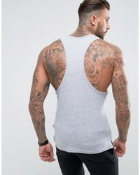 Nicce London - Tank In Gray With Tri Color Logo for Men - Lyst