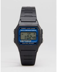 G-Shock | Digital Watch In Black F105w-1auz for Men | Lyst