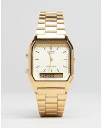 G-Shock | Metallic Aq-230ga-9dmqyes Digital Bracelet Watch | Lyst