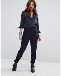 2fe704532362 Denim   Supply Ralph Lauren Long Sleeved Utility Jumpsuit in Blue - Lyst