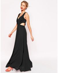 ASOS - Black Side Cut Out Maxi Dress - Lyst