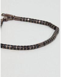 Emporio Armani - Slim Bracelet In Brown for Men - Lyst