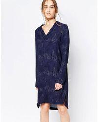 Just Female | Black Night Shimmer Shift Dress | Lyst