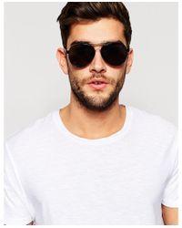 Jack & Jones - Gray Clear Lens Aviator Sunglasses for Men - Lyst