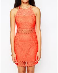 Daisy Street - Orange Dress With Cut Out Detail - Lyst