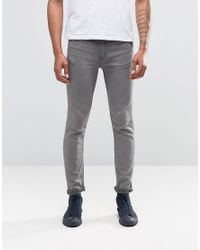 Cheap Monday | Gray Jeans Tight Skinny Fit Mid Grey Wash for Men | Lyst