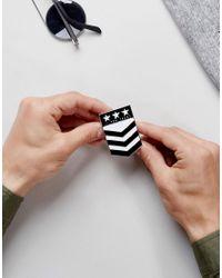 ASOS - Multicolor Pin Badge In Military Design - Lyst