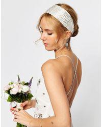 ASOS - Metallic Wedding Seedbead Headband - Lyst