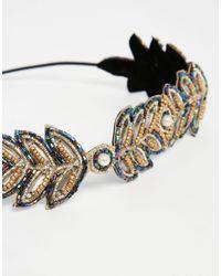 ASOS - Black Disco Vine Headband - Lyst