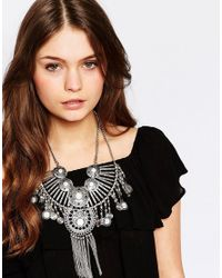 New Look - Metallic Coin Necklace - Lyst