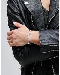 Mister - Metallic Level Plus Cuff Bracelet In Silver for Men - Lyst