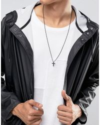 Mister   Crucis Necklace In Black - Black for Men   Lyst