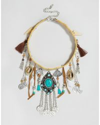 ASOS | Multicolor Western Festival Vibes Choker Necklace | Lyst