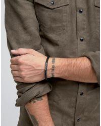 Paul Smith - Woven Leather Plaited Bracelet In Black for Men - Lyst