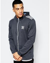 Adidas Originals - Blue Shattered Stripe Hoodie In Black Az3270 for Men - Lyst