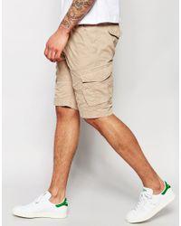 Threadbare - Natural Cargo Shorts for Men - Lyst