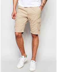 Threadbare - Natural Cargo Shorts for Men - Lyst