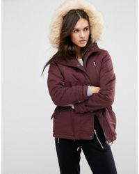 ASOS   Red Ultimate Parka   Lyst