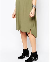 ASOS - Midi T Shirt Dress - Green - Lyst