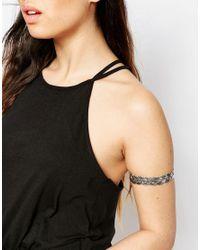 ASOS - Metallic Plaited Arm Cuff - Lyst