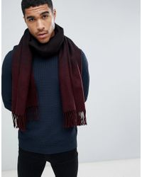ASOS - Red Charpe faon couverture effet ombr for Men - Lyst