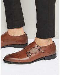 HUGO - By Boss Dressap Monk Shoes - Brown for Men - Lyst