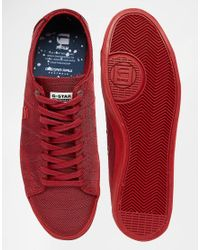 G-Star RAW - Natural Dex Mono Trainers for Men - Lyst