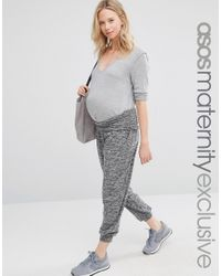 ASOS | Gray Lounge Hareem Pants | Lyst
