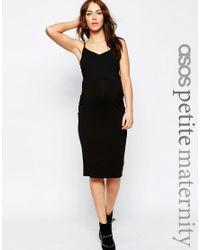 ASOS   Black Petite Cami Midi Dress   Lyst