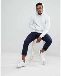 ASOS - Hoodie In White Marl for Men - Lyst