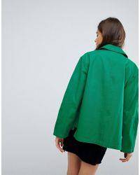 ASOS - Green Asos Washed Cotton Jacket - Lyst