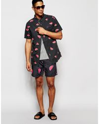 Globe Gray Slice 16.5 Inch Swim Shorts for men