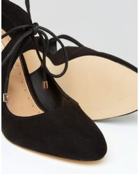 Miss Kg - Black Clara Cross Strap Heeled Shoes - Lyst