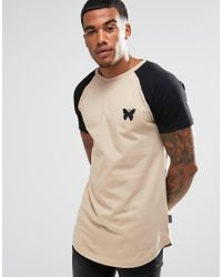Good For Nothing | Natural T-shirt With Contrast Raglan Sleeve for Men | Lyst