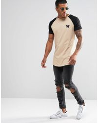 Good For Nothing - Natural T-shirt With Contrast Raglan Sleeve for Men - Lyst