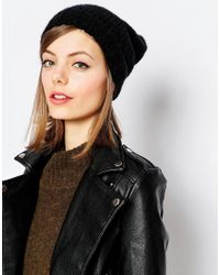 Hat Attack | Black Slouchy Beanie Hat | Lyst