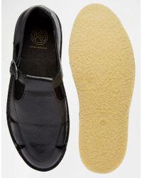 KG by Kurt Geiger - Kurt Geiger Dwight Leather Sandals - Black for Men - Lyst