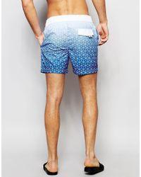 Tokyo Laundry - Blue Neon Tie Geo Printed Swim Short for Men - Lyst