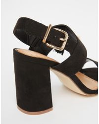 Miss Kg Elaina Black Tassel Block Heeled Sandals