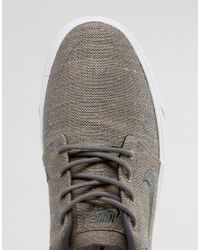Nike - Gray Portmore Canvas Premium Trainers In Grey 807399-001 for Men - Lyst