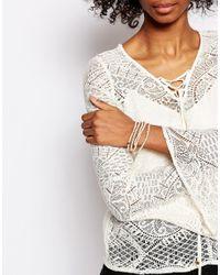 Pilgrim - Multicolor Bead Wrap Bracelet - Lyst
