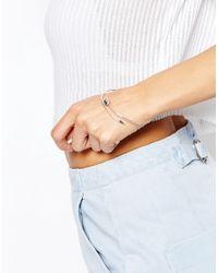 ASOS - Metallic Arrow Open Bangle Bracelet - Lyst